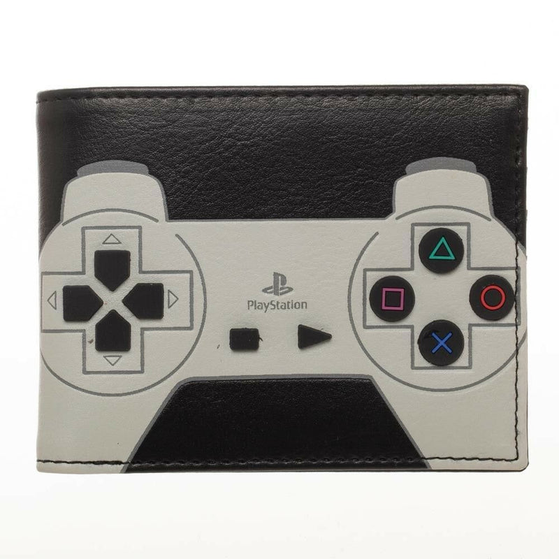 Playstation Controller With 3D Rubber Buttons Bifold Wallet - Kryptonite Character Store