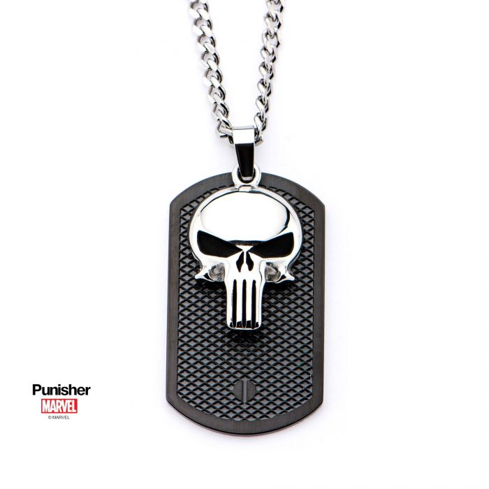Punisher Cutout Pendant with Chain.