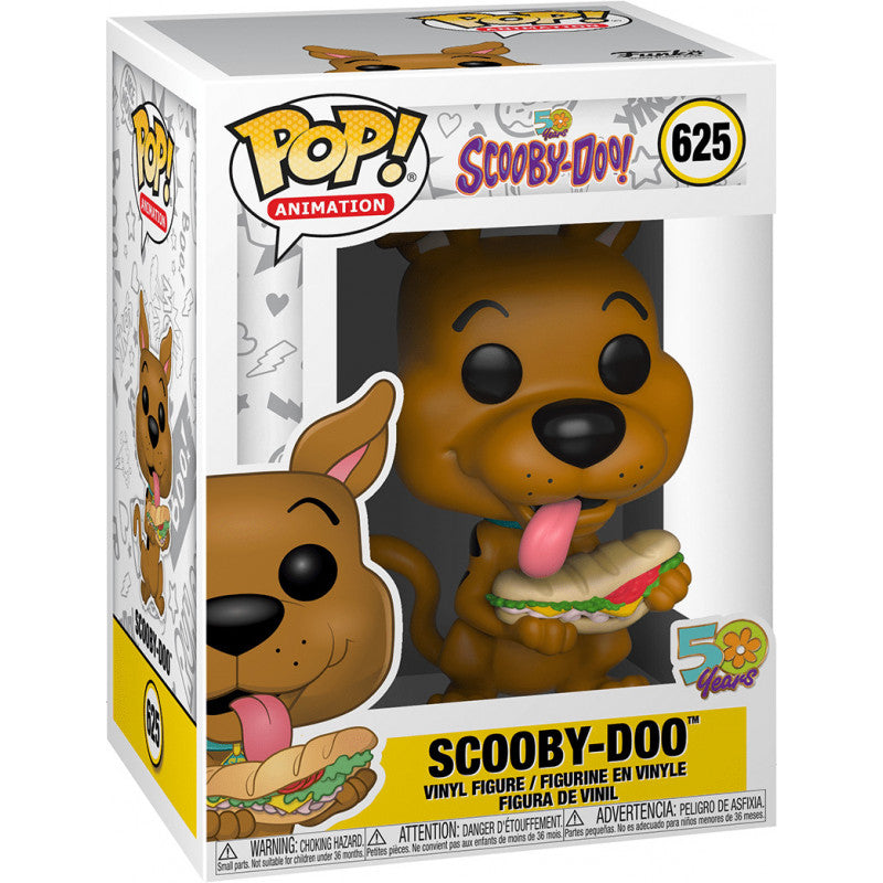 Scooby Doo - Scooby Doo w/ Sandwich Pop Animation Vinyl Figure - Kryptonite Character Store