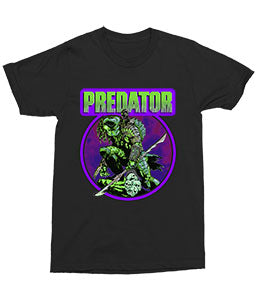 Predator Retro Comic Bright Adult Fitted T-Shirt