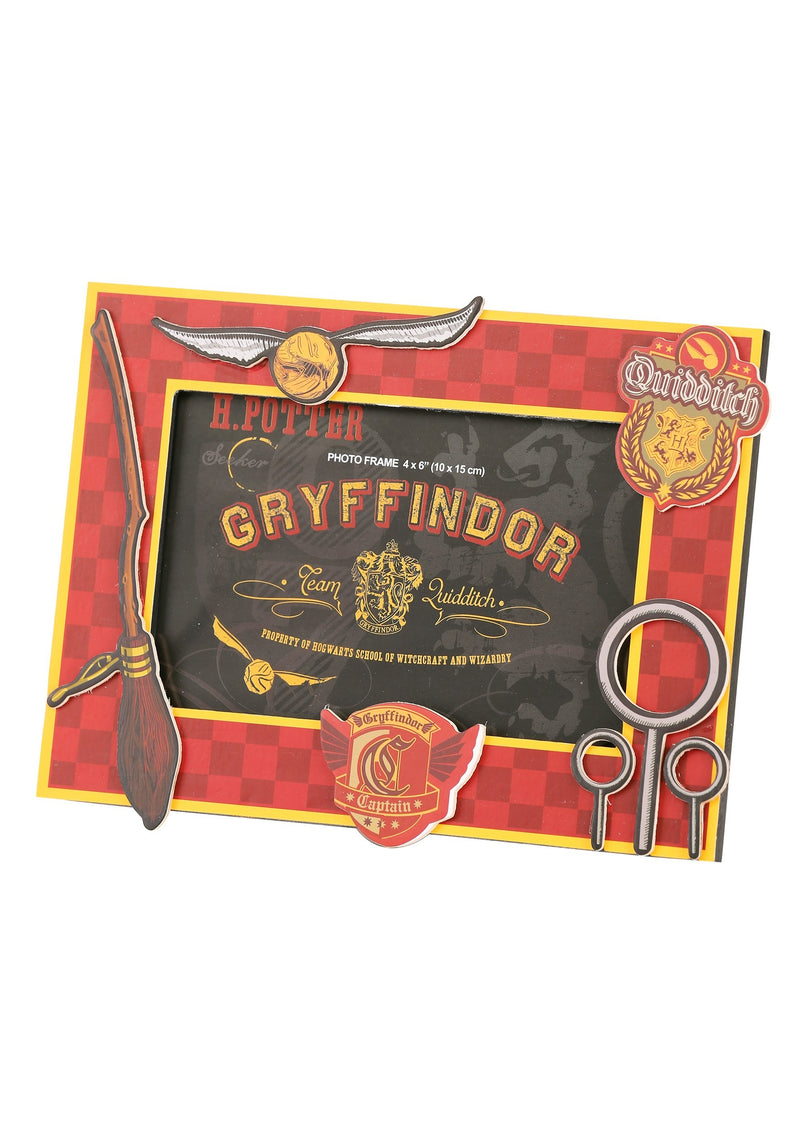 Harry Potter Gyffindor 4in X 6in 3-D Mdf Photo Frame - Kryptonite Character Store