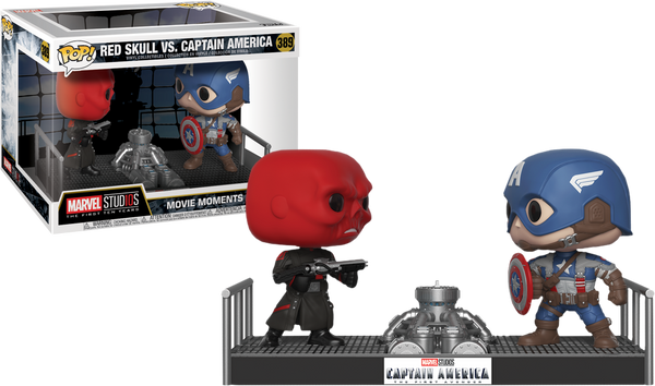 Red Skull Vs. Captain America Movie Moments Pop - Kryptonite Character Store