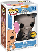 Funko Pop! Nickelodeon: Ren & Stimpy - Ren Fire Dogs CHASE Limited Edition Vinyl Figure (packed with Pop Box Protector Case) - Kryptonite Character Store