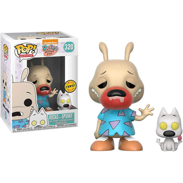 Funko Rocko & Spunky (CHASE Edition) POP! Nickelodeon Rocko's Modern Life - Kryptonite Character Store