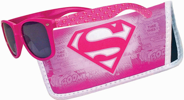 Superman Pink Logo Sunglasses with Carry Case - Kryptonite Character Store