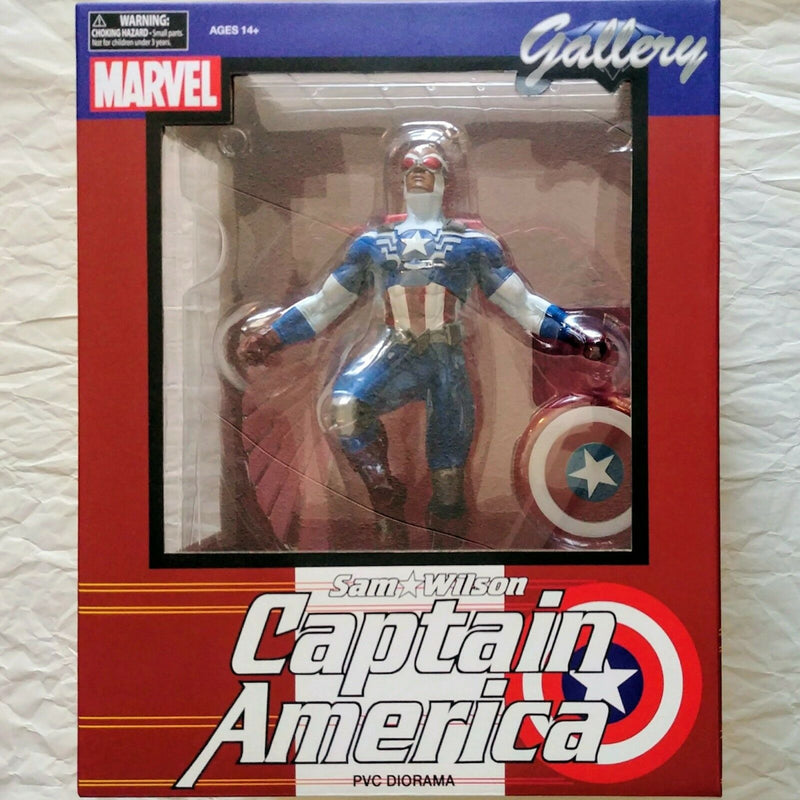 Marvel - Sam Wilson Captain America Statue PVC Figure - Kryptonite Character Store