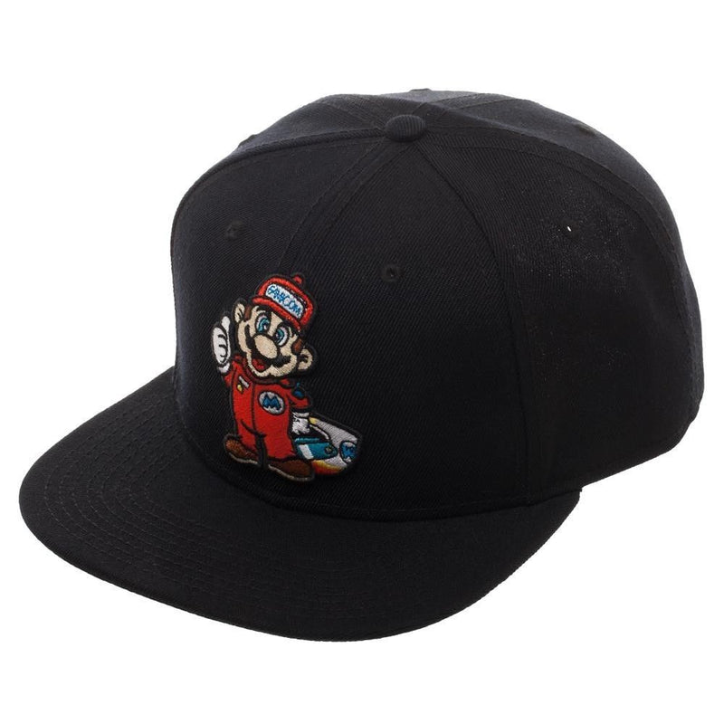 SUPER MARIO KART SOLID BLACK SNAPBACK HAT CAP - Kryptonite Character Store