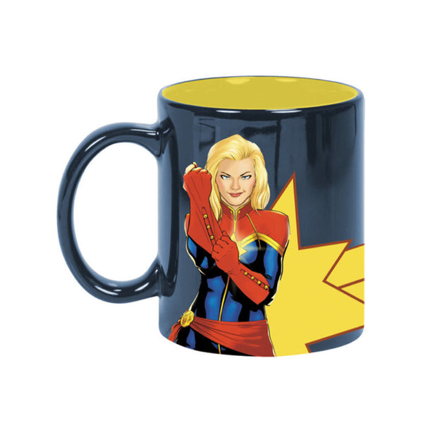 Captain Marvel Glitter Coffee Mug