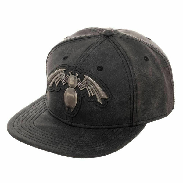 Venom Distressed Metal Black Snapback Hat - Kryptonite Character Store