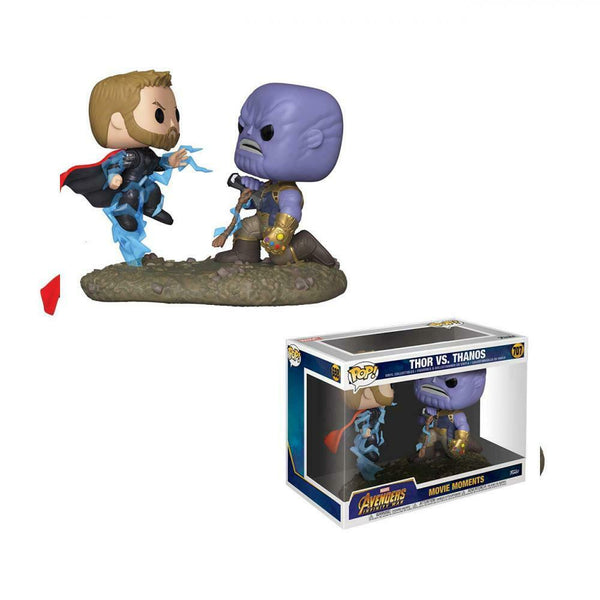 Movie Moments: Marvel - Thor vs Thanos Pop Vinyl Figures - Kryptonite Character Store