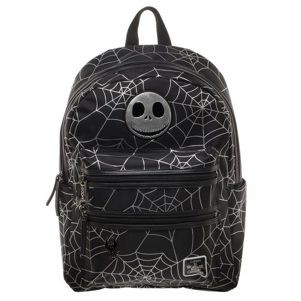 Nightmare Before Christmas Spider Web Travel School Laptop Backpack