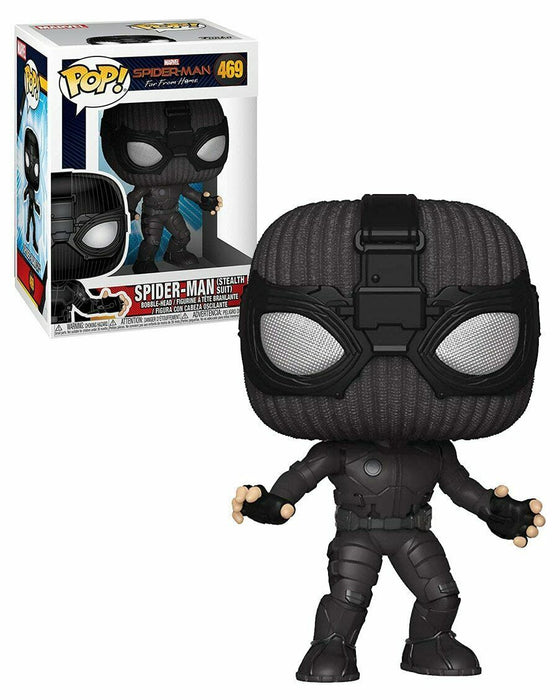 Marvel: FFH - Spider-Man (Stealth Suit) POP Movies Vinyl Figure - Kryptonite Character Store