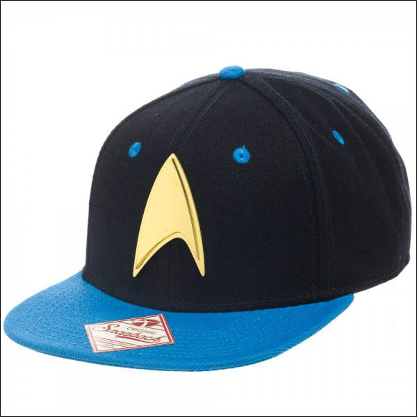 Star Trek Enterprise Science Metal Logo Black/Blue Snapback Cap Baseball Hat