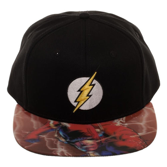 dcc9e5a2 ... DC COMICS FLASH 3D LOGO LENTICULAR BILL BLACK SNAPBACK - Kryptonite  Character Store ...