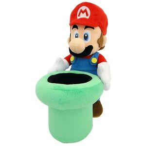"Banpresto - Super Mario Mario & Pipe 9"" Plush Toy - Kryptonite Character Store"
