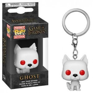 Game of Thrones Ghost Mini Funko Pop Keychain - Kryptonite Character Store