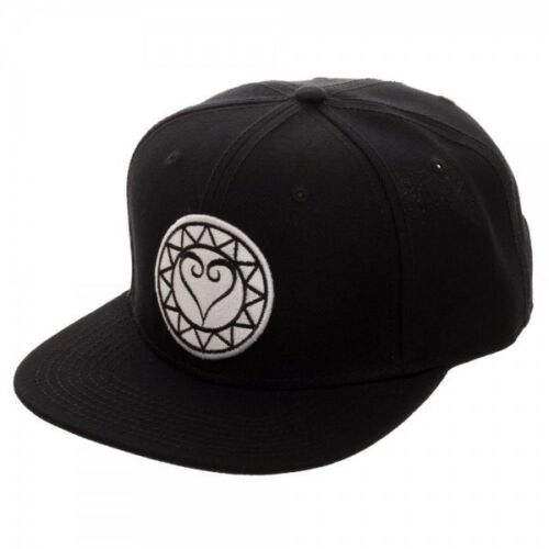 KINGDOM HEARTS - HEART LOGO BLACK SNAPBACK CAP - Kryptonite Character Store