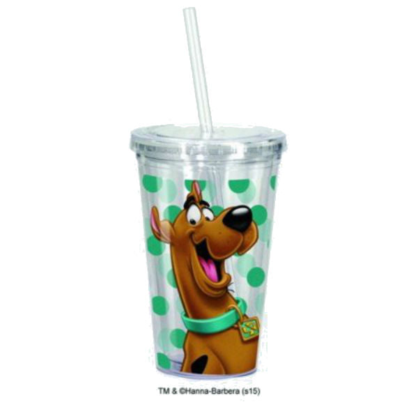 Spoontiques Scooby Doo Cup with Straw, Clear