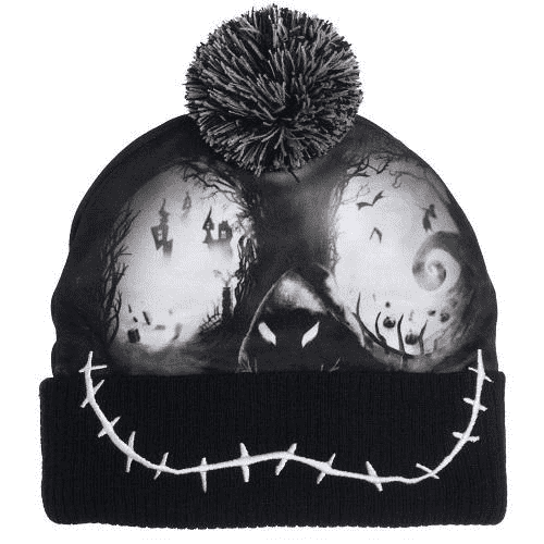 Nightmare Before Christmas Sublimated Winter Knit Cap with Pom