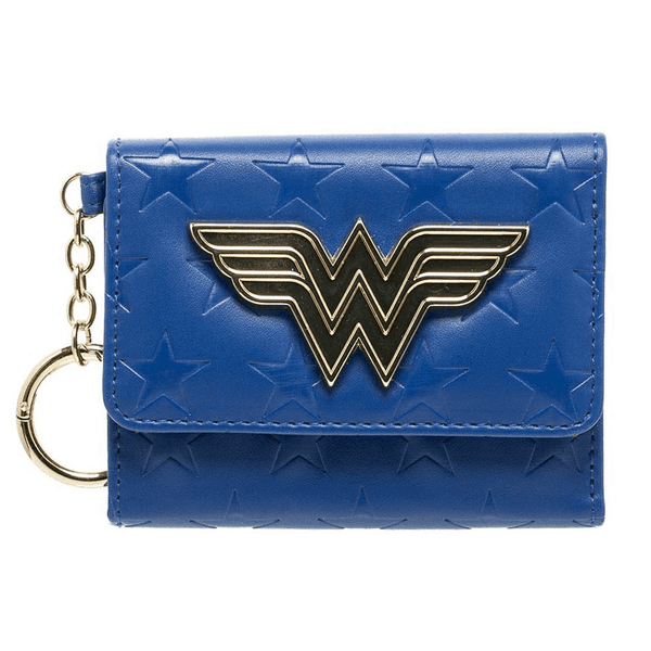 Wonder Woman Mini Tri-Fold Wallet, Blue - Kryptonite Character Store