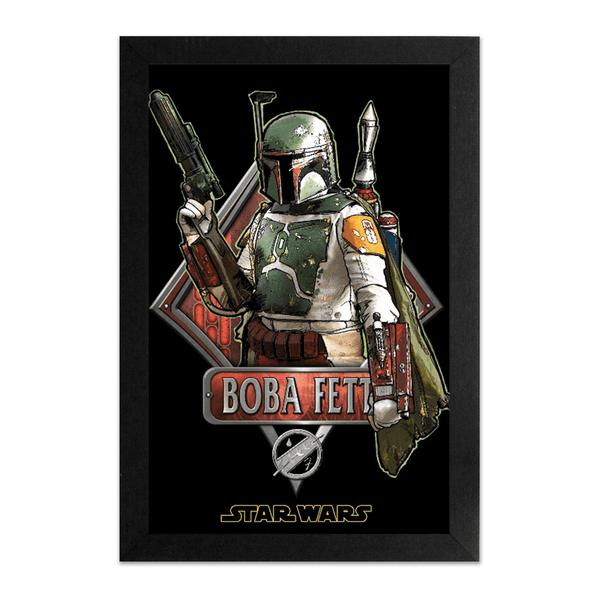 Pyramid America 'star Wars - Boba Fett' Framed Graphic Art Print