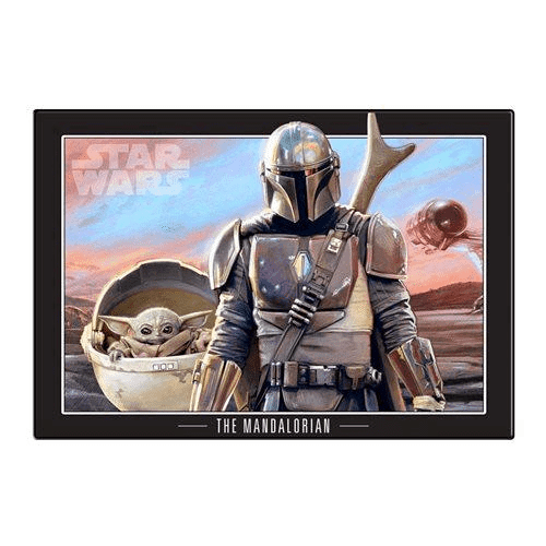 Star Wars The Mandalorian and The Child Wood Wall Art