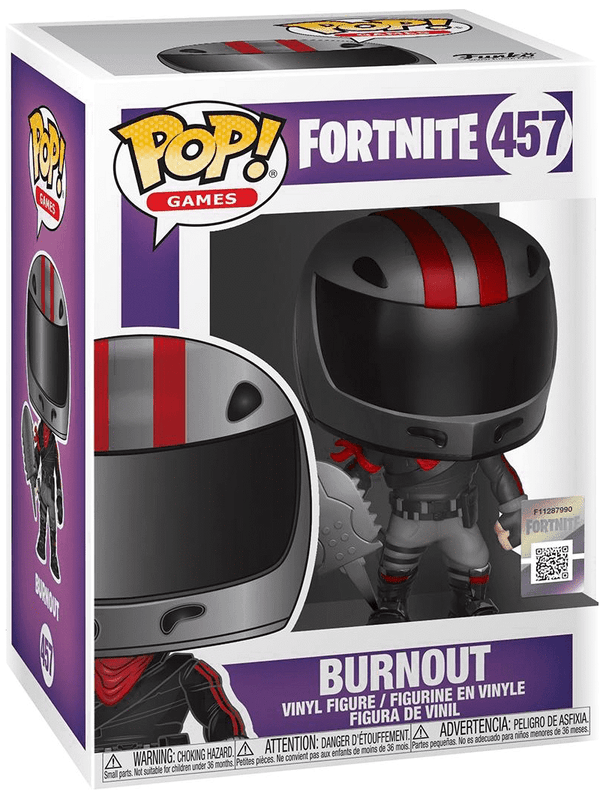 Fortnite S2 - Burn Out Pop Games Vinyl Figure - Kryptonite Character Store