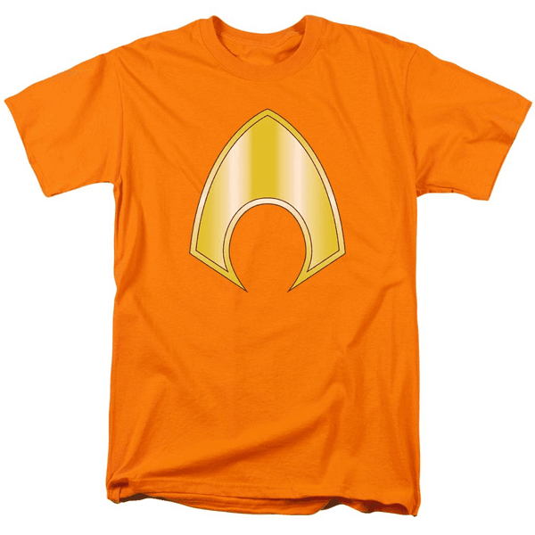 DC Comics Aquaman Logo Orange Adult Fitted T-shirt