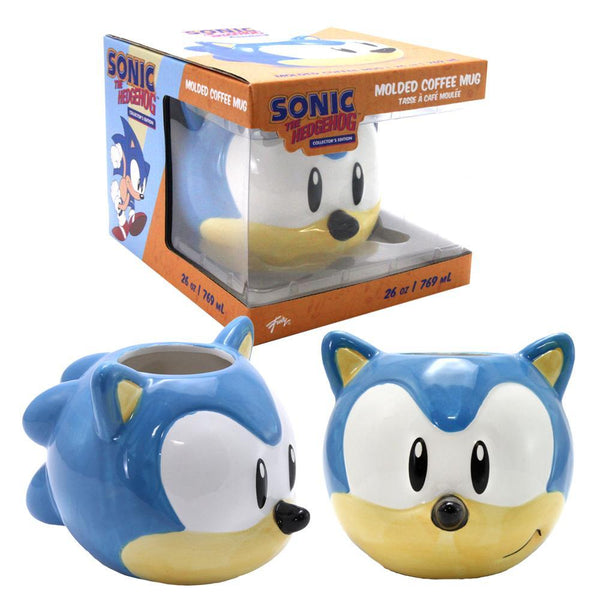 Sonic The Hedgehog Molded Collectors 26 Oz Coffee Mug- Kryptonite Character Store