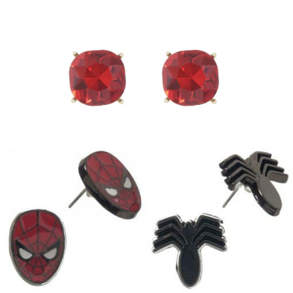 Marvel Comics Spider-Man Earrings Set
