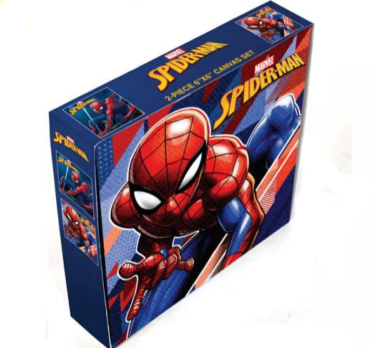 Marvel Spider-man - square 6'' x 6'' 2 pieces Canvas - Kryptonite Character Store