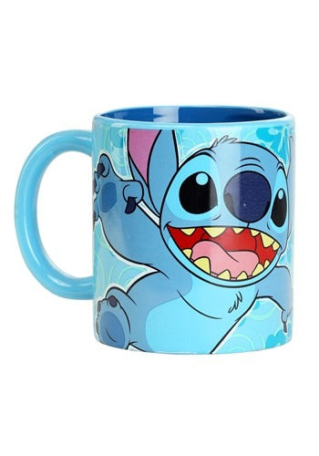 Lilo & Stitch Flower Leap 20oz. Ceramic Mug with Spinner - Kryptonite Character Store