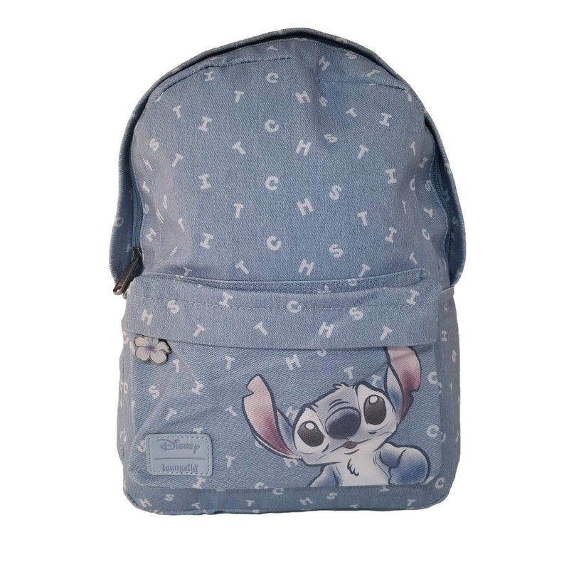 Stitch Printed Cotton Twill Letters Mini Backpack