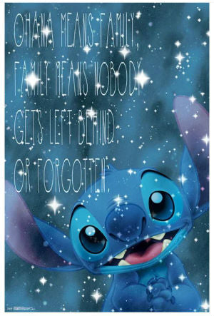 Ohana Means Family Lilo & Stitch Disney Wall Art - Kryptonite Character Store