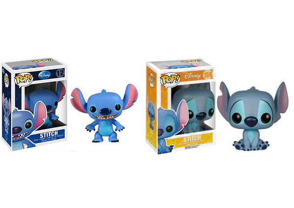 Funko Pop Disney: Lilo & Stitch - Stitch & Stitch Seated Vinyl Figures Bundle