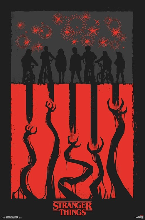 Netflix - Stranger Things 3 - 4th Illustration Wall Poster - Kryptonite Character Store