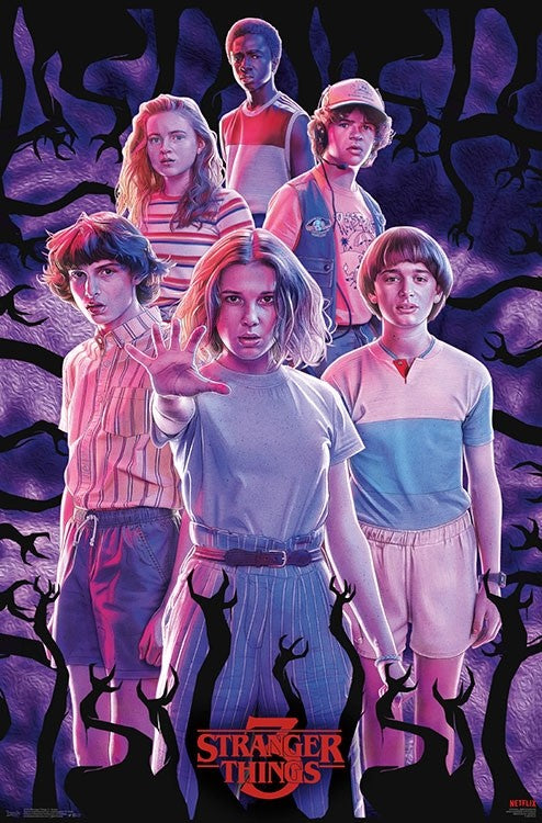 Netflix - Stranger Things 3 - Group Wall Poster - Kryptonite Character Store