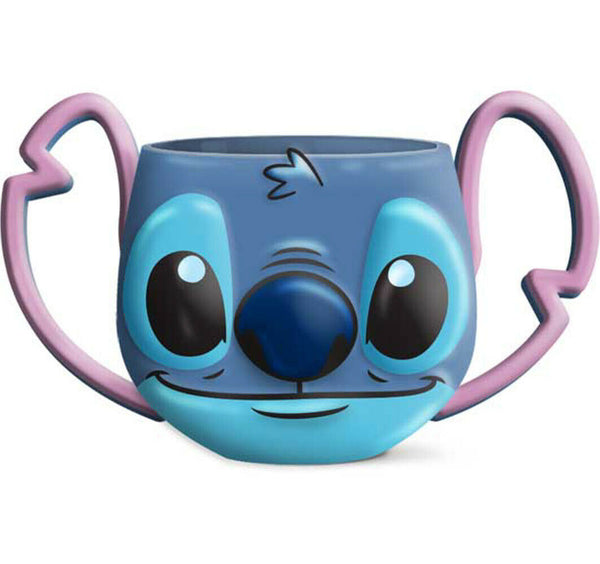 Disney Movie Lilo & Stitch Smiley Face 3D Mug Molded Coffee Ceramic  - Kryptonite Character Store