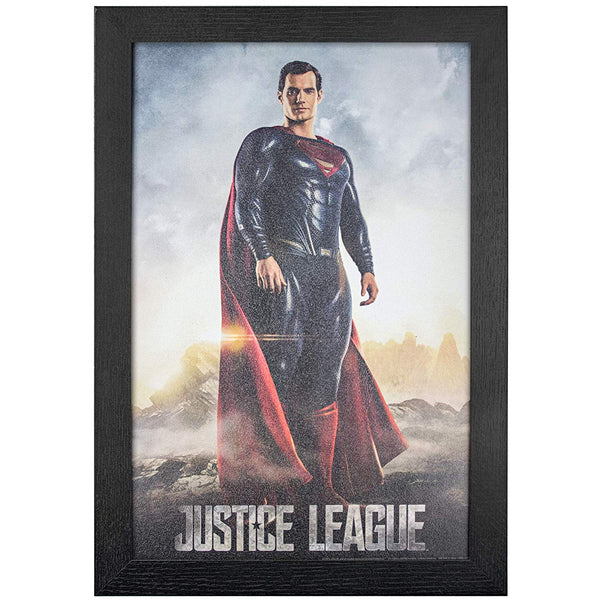 "Justice League Superman Framed Movie Wall Art, 19"" H x 13"" L, Multicolored - Kryptonite Character Store"
