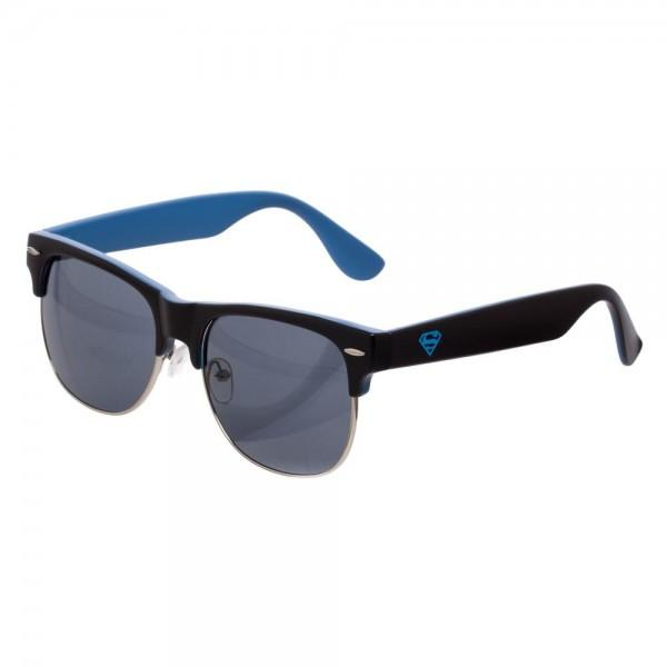 Superman Blue Logo Sunglasses with Carry Case