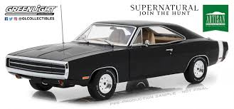 "1970 Dodge Charger Black ""Supernatural"" 1/18 Diecast Model Car"