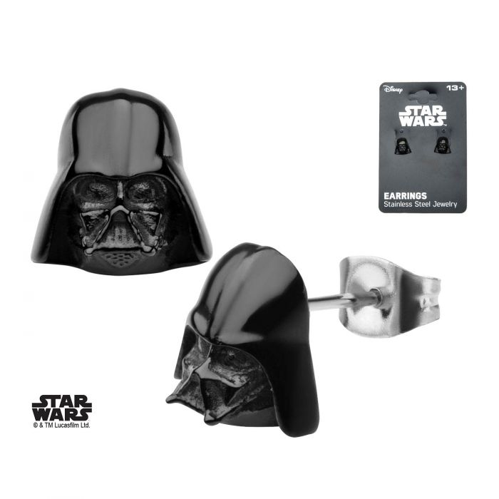 Star Wars 3D Darth Vader Stud Earrings