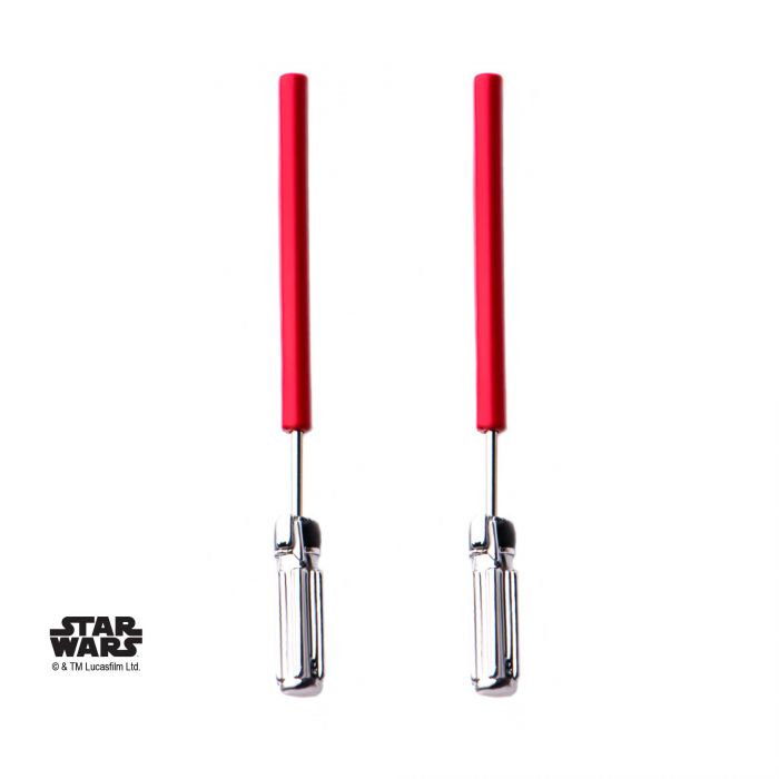 18g 5/16 Star Wars Base Metal Red Light Saber Faux Earrings