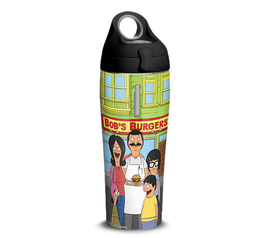 Bob's Burgers Storefront 24oz Stainless Steel With Water Bottle Lid