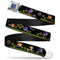 Sonic Classic Pixelated Pose Full Color Black/White Seatbelt Belt