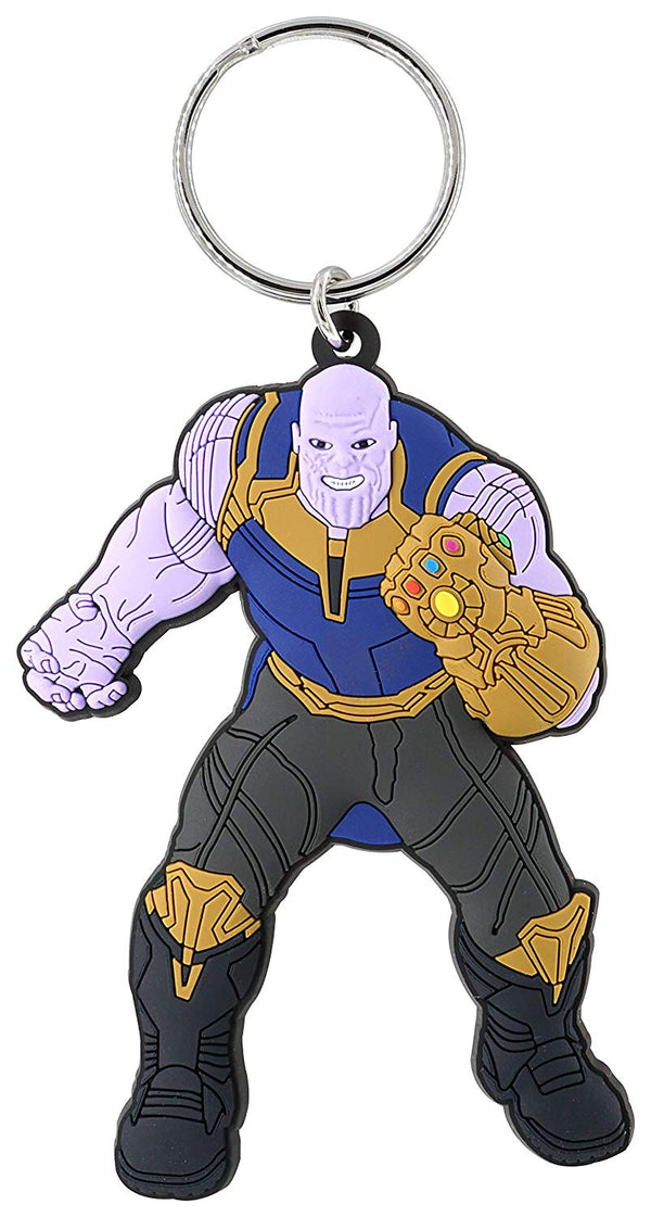Marvel - Avengers - Thanos Soft Touch Key Ring, Multi Color - Kryptonite Character Store