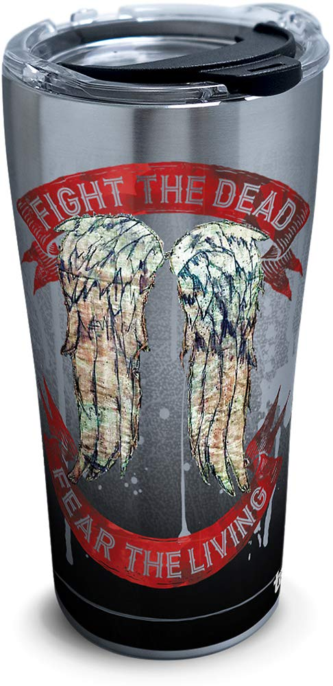 The Walking Dead - Daryl Wings Insulated Travel Tumbler  20oz - Stainless Steel- Kryptonite Character Store