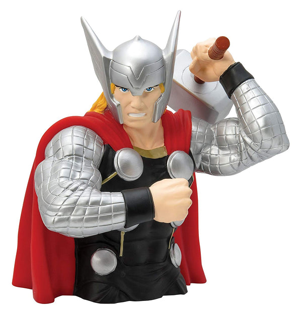 Marvel - Avengers - Thor with Hammer Bust Coin Bank - Kryptonite Character Store