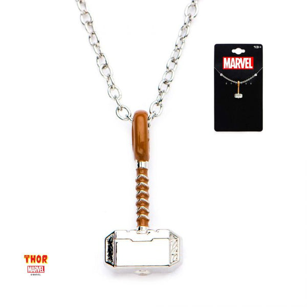 Marvel Stainless Steel Thor Hammer Pendant with Chain