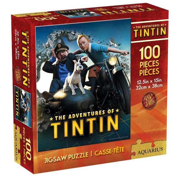 The Adventures of Tintin 100 Piece Jigsaw Puzzle